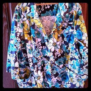 Dress jacket Flower print 3xl